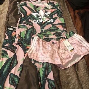 Adidas Farm pink tropical set.
